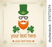 vector card on saint patrick's... | Shutterstock .eps vector #373773274