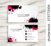 ink splash business card   Shutterstock .eps vector #373773304