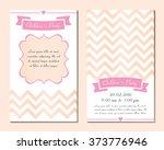 set invitation for children's... | Shutterstock .eps vector #373776946
