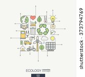 ecology integrated thin line... | Shutterstock .eps vector #373794769
