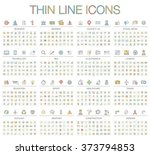 vector illustration of thin... | Shutterstock .eps vector #373794853