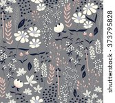 seamless pattern design with... | Shutterstock .eps vector #373795828