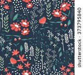 seamless pattern design with... | Shutterstock .eps vector #373795840