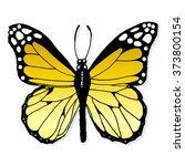vector hand drawn yellow...   Shutterstock .eps vector #373800154
