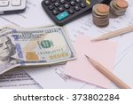 Dollar Cash And Calculator On...