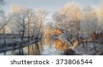 winter city river in the morning | Shutterstock . vector #373806544