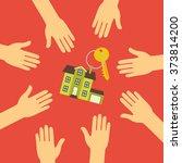 vector real estate concept in... | Shutterstock .eps vector #373814200