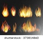 fire. vector  realistic...   Shutterstock .eps vector #373814860