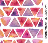 colorful watercolor pattern of... | Shutterstock . vector #373821994