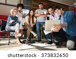 startup team working and... | Shutterstock . vector #373832650