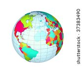 globe | Shutterstock . vector #37383490