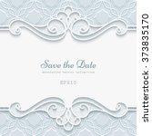 elegant cutout paper lace frame ... | Shutterstock .eps vector #373835170