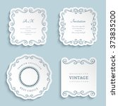 set of vector labels  cutout... | Shutterstock .eps vector #373835200