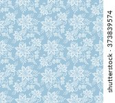 seamless floral lace pattern.... | Shutterstock .eps vector #373839574