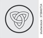 celtic knot vector icon   Shutterstock .eps vector #373840714