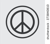 peace sign | Shutterstock .eps vector #373840810