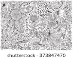Floral Doodle Pattern With...