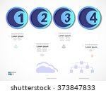 infographic design vector... | Shutterstock .eps vector #373847833