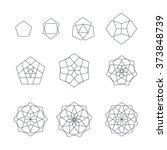 vector pentagon black outline... | Shutterstock .eps vector #373848739