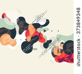 abstract modern geometric... | Shutterstock .eps vector #373849348