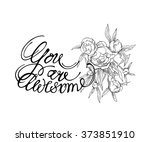 calligraphy inscriptions. you... | Shutterstock .eps vector #373851910