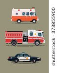cool vector ambulance emergency ... | Shutterstock .eps vector #373855900