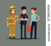 cool public safety worker... | Shutterstock .eps vector #373855909