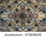 old carpet with pattern. top... | Shutterstock . vector #373858630