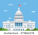 White House Vector Flat...