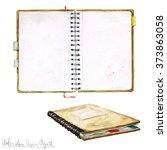 watercolor paper clipart   open ... | Shutterstock . vector #373863058
