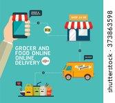 food order online shopping e... | Shutterstock .eps vector #373863598