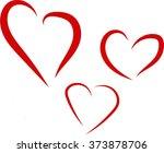 hearts   Shutterstock .eps vector #373878706