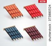 set of icons demonstration many ... | Shutterstock .eps vector #373880524