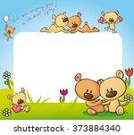 cute teddy bears in love design ... | Shutterstock .eps vector #373884340