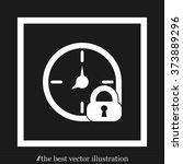 clock lock | Shutterstock .eps vector #373889296