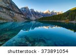 Moraine Lake Panorama In Banff...