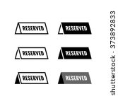 reserved table icon. black and... | Shutterstock .eps vector #373892833