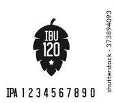 ibu index logo. hop pine black... | Shutterstock .eps vector #373894093