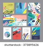 set of creative universal cards....