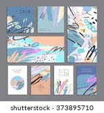 set of creative universal cards.... | Shutterstock .eps vector #373895710