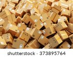 distribution warehouse  package ... | Shutterstock . vector #373895764
