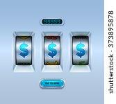 slot machine background. | Shutterstock .eps vector #373895878