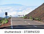 Mountain Empty Asphalt Road...