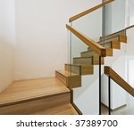 Contemporary Stair Case With...