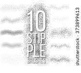 10 vector scatter stipple... | Shutterstock .eps vector #373899613