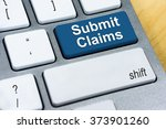 written word submit claims on... | Shutterstock . vector #373901260
