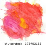 watercolor painting. red and... | Shutterstock . vector #373903183