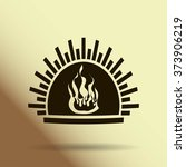 fireplace vector icon | Shutterstock .eps vector #373906219