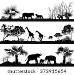 Vector Set Of Illustration Wit...
