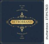 vector calligraphic logo...   Shutterstock .eps vector #373917823